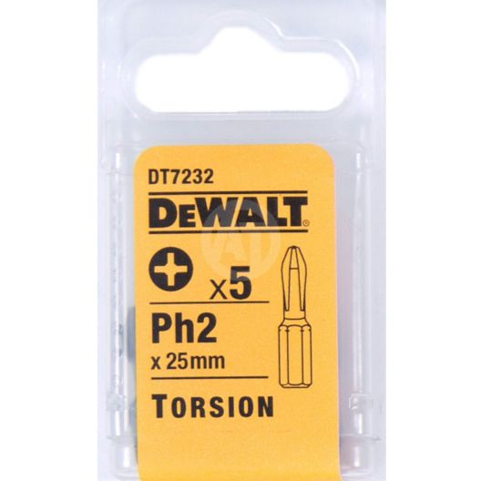 Бита DT 7232 DeWalt Ph2 25мм <5шт>_Z