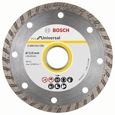 Диск алмазный Bosch ECO Universal Turbo 115х22.23 мм (1/1)