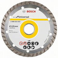 Диск алмазный Bosch ECO Universal Turbo, 125х22,23 мм